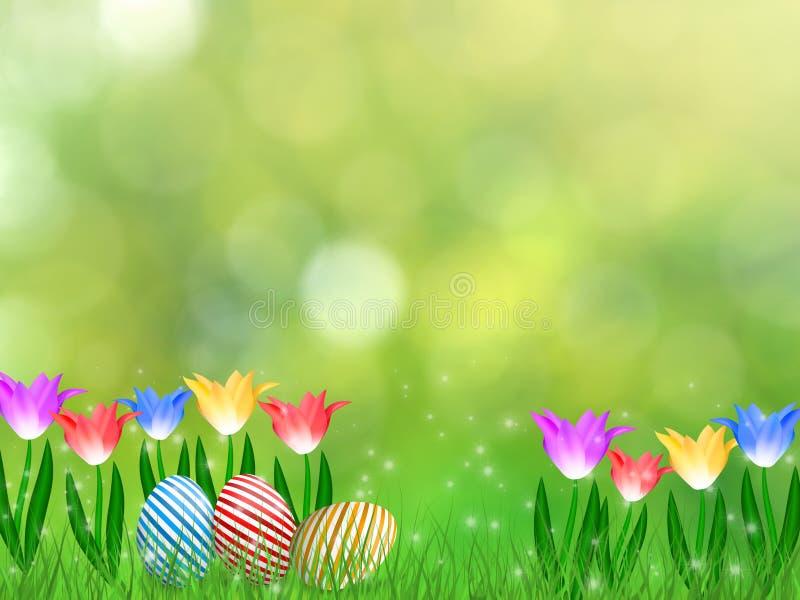 Pasen-de lenteachtergrond royalty-vrije illustratie