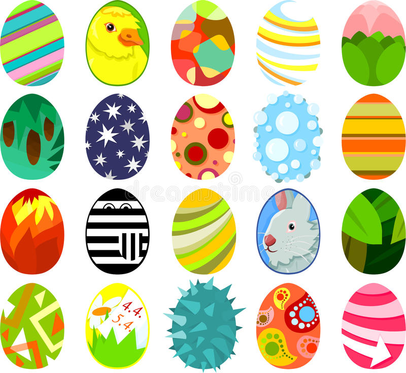 Pasen eggs03 stock illustratie