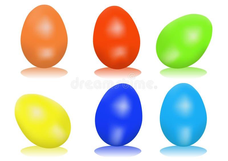 Pasen-eieren stock illustratie