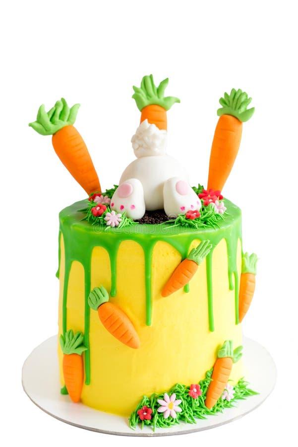 Pasen-geïsoleerde cake stock afbeelding