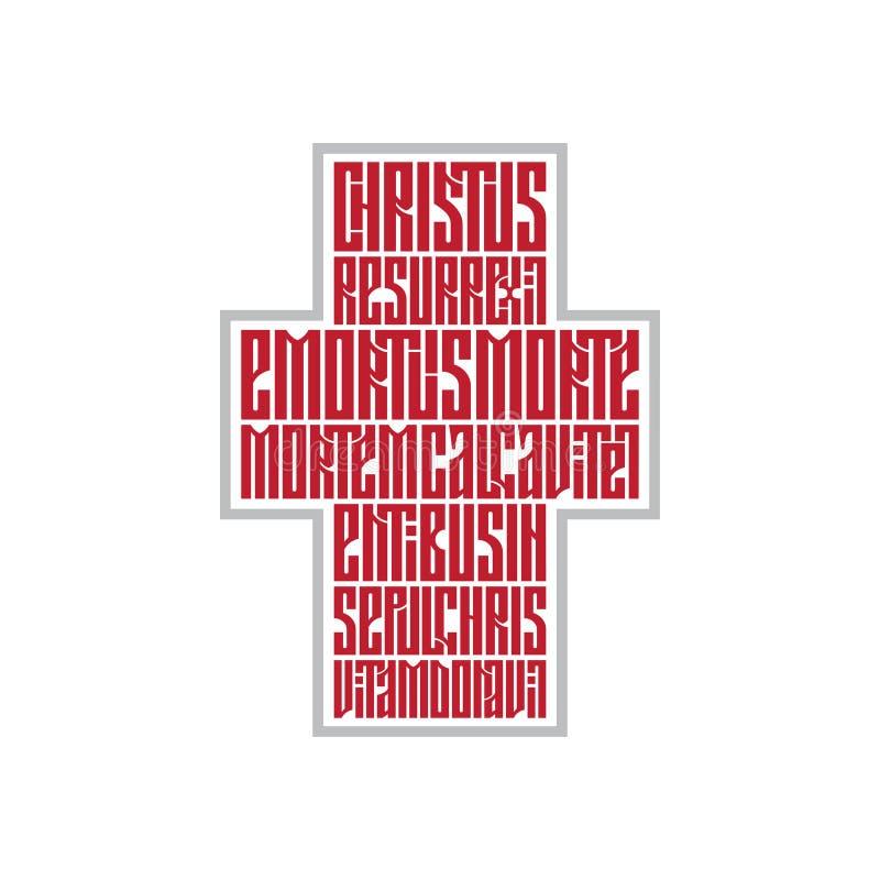 Pasen-gebed in de vorm van een kruis royalty-vrije stock afbeelding