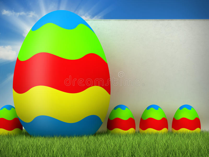 Pasen - gekleurde eieren stock illustratie