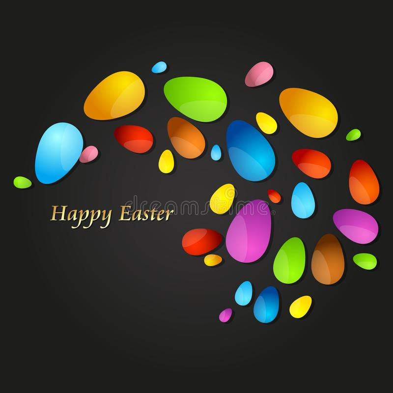 Pasen gekleurde eierensamenvatting stock illustratie