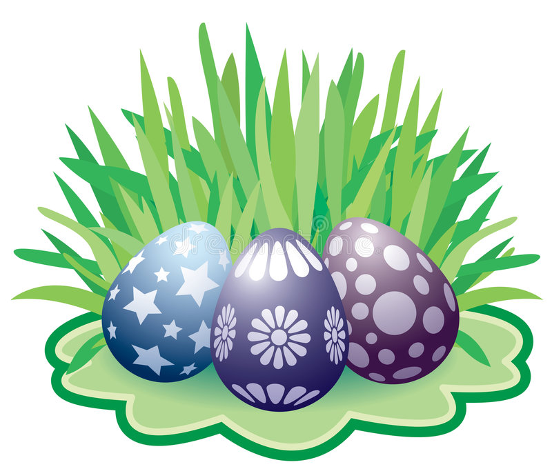 Pasen geschilderde eieren vector illustratie