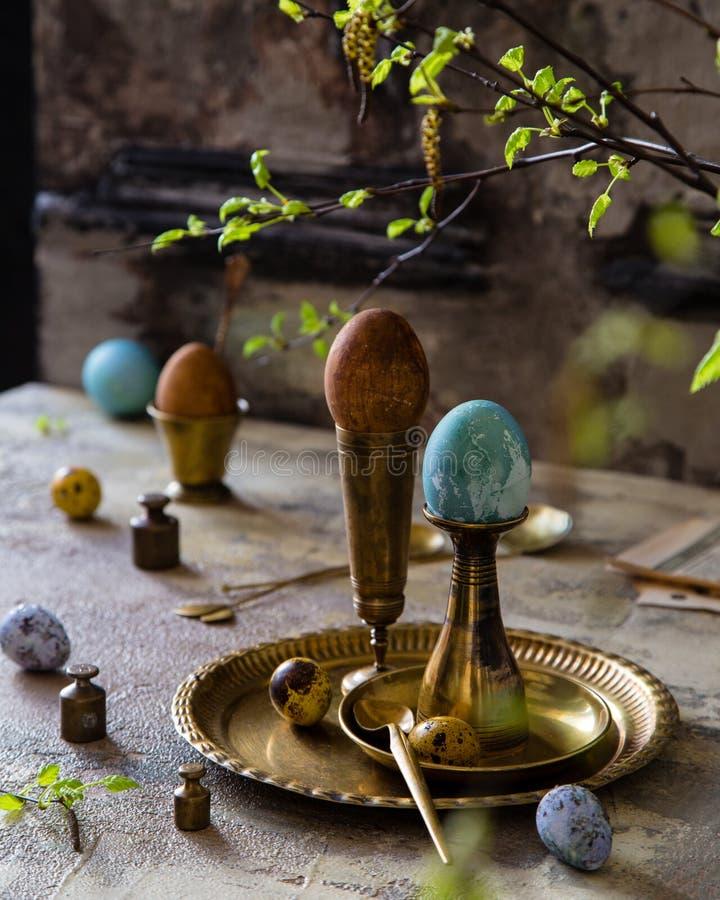 Pasen geschilderde eieren royalty-vrije stock afbeelding