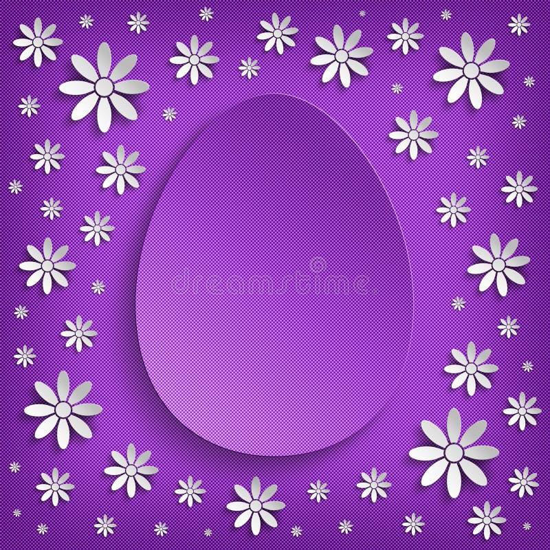 Pasen-groetkaart - achtergrondmalplaatje stock illustratie
