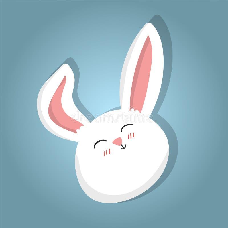 Pasen-het konijn, het leuke konijntje van het beeldverhaalkarakter trekt stock illustratie