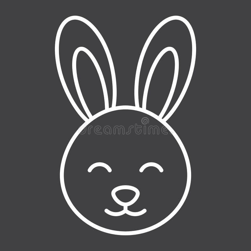 Pasen-het pictogram, Pasen en de vakantie van de konijnlijn royalty-vrije illustratie