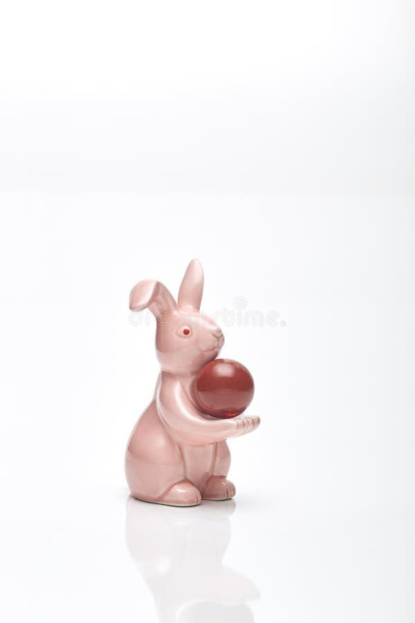 Pasen-het roze van het origamikonijn royalty-vrije stock foto