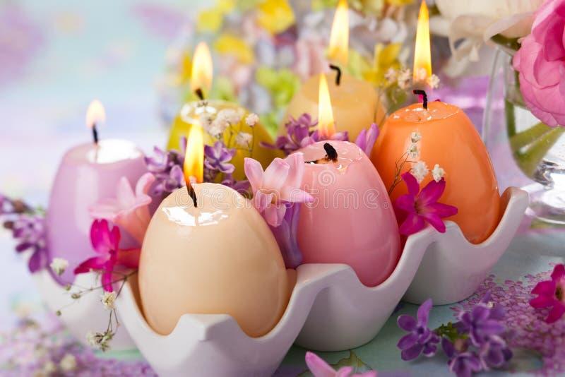 Pasen-kaarsen stock afbeelding