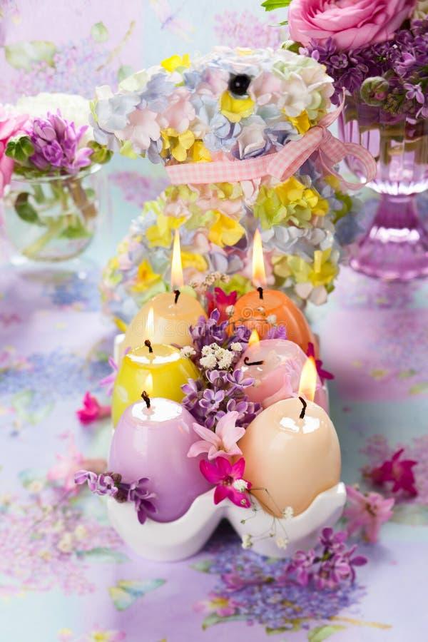 Pasen-kaarsen stock foto's