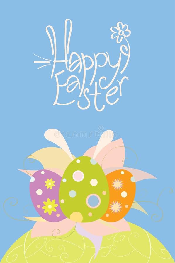 Pasen-kaart met eieren royalty-vrije stock afbeelding