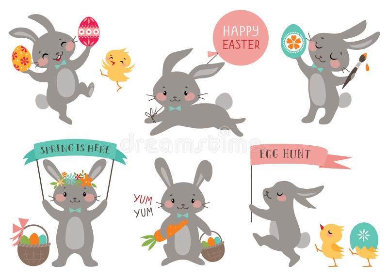 Pasen-konijnen vector illustratie
