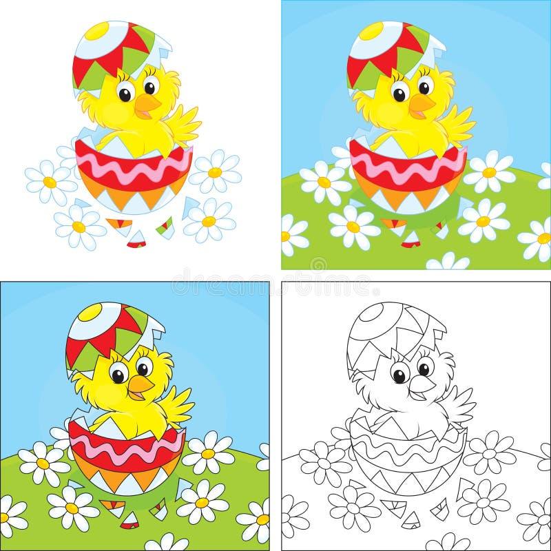 Pasen-Kuiken vector illustratie
