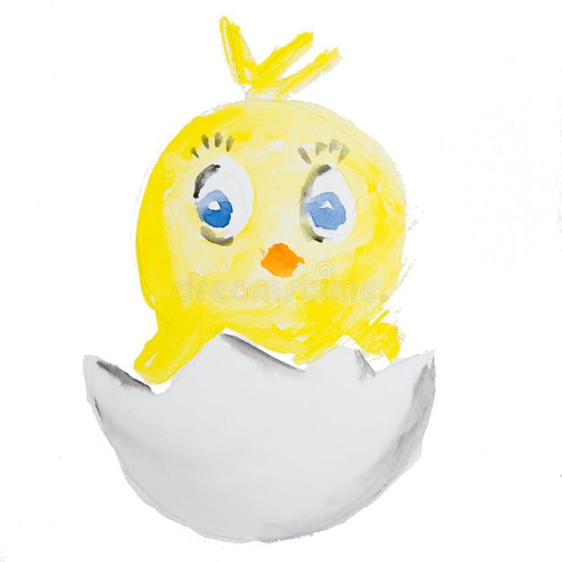 Pasen-kuiken het uitbroeden stock illustratie