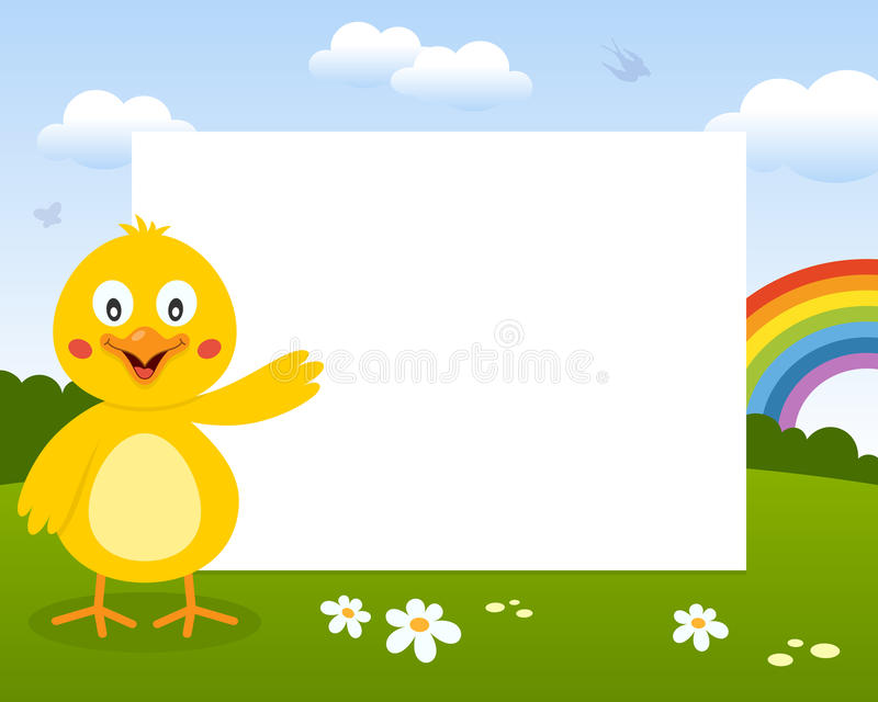 Pasen Leuk Chick Photo Frame stock illustratie