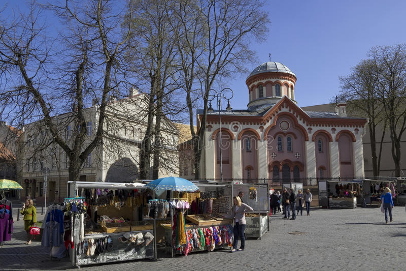 Pasen-markt in oude stad stock fotografie