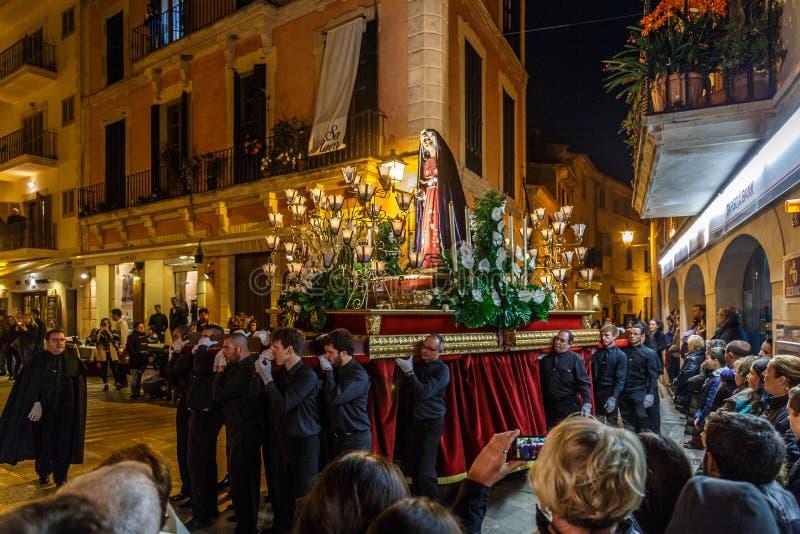 Pasen-optocht in Alcudia stock foto's