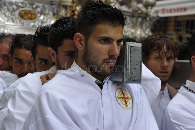 Pasen-Optocht in Malaga, Spanje royalty-vrije stock fotografie