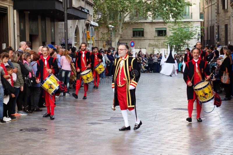 Pasen-optocht in Palma de Mallorca royalty-vrije stock afbeelding