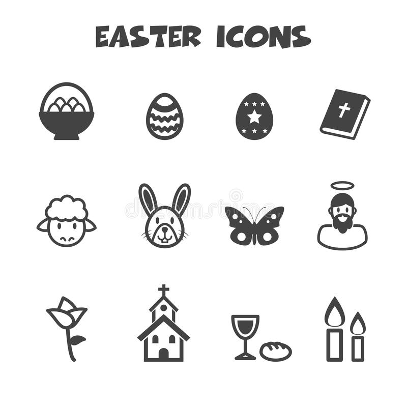 Pasen-pictogrammen royalty-vrije illustratie