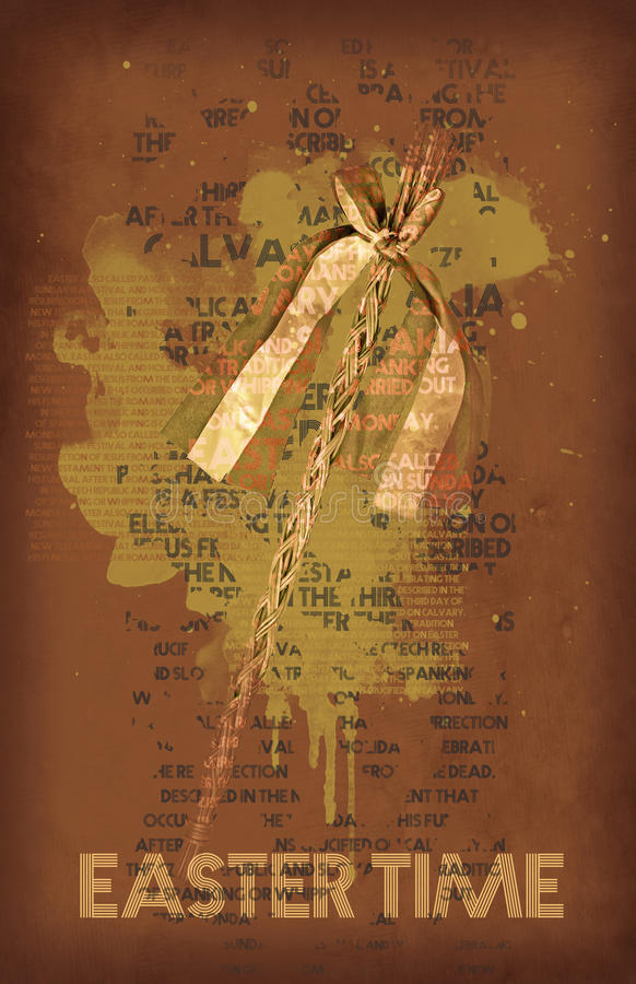 Pasen ranselt, symbool van de lente, oranje filter vector illustratie