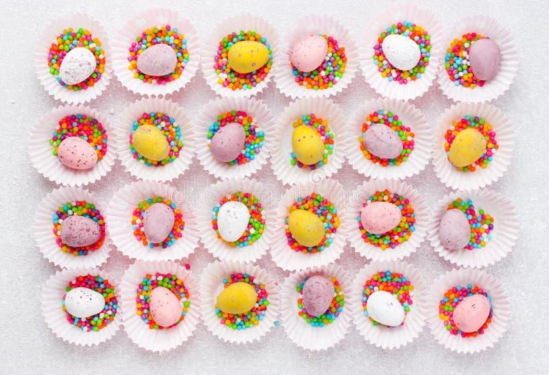 Pasen-suikergoedeieren royalty-vrije stock afbeeldingen