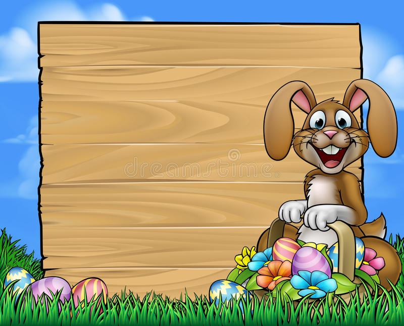 Pasen-Teken Bunny Eggs Background stock illustratie