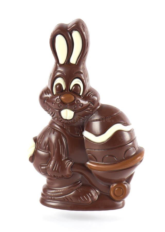 Pasen van de chocolade konijntje met ei royalty-vrije stock fotografie