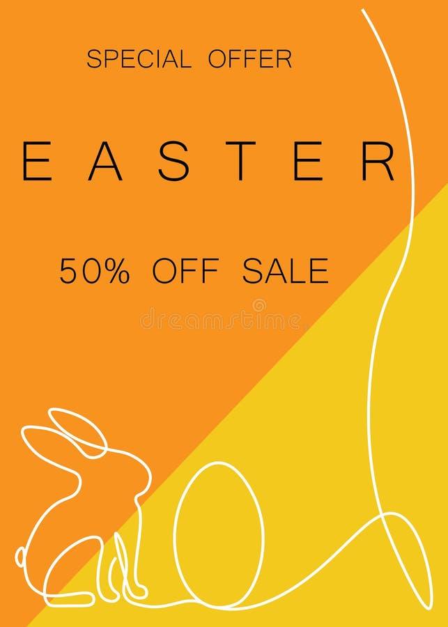 Pasen-verkoopachtergrond of banner, vectorillustratie stock illustratie