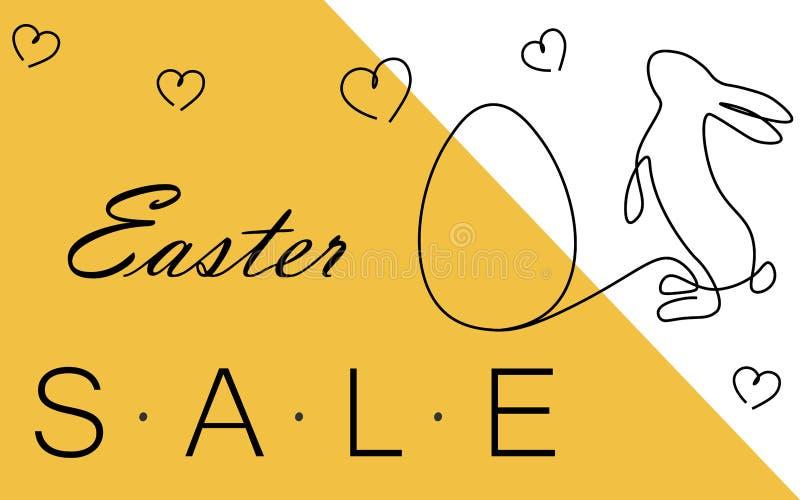 Pasen-verkoopachtergrond of banner vectorillustratie stock illustratie