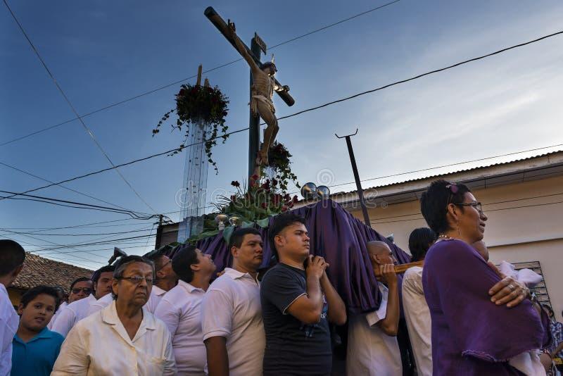 Pasen-vieringen in Leon, Nicaragua royalty-vrije stock foto