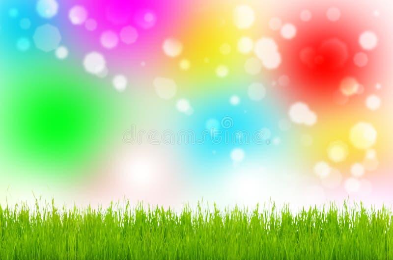 Pasen-weide, kleurrijke achtergrond, Pasen stock foto's