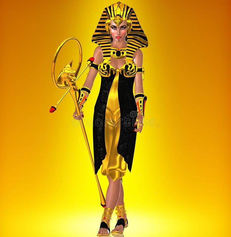 Paseo como un egipcio, con poder stock de ilustración