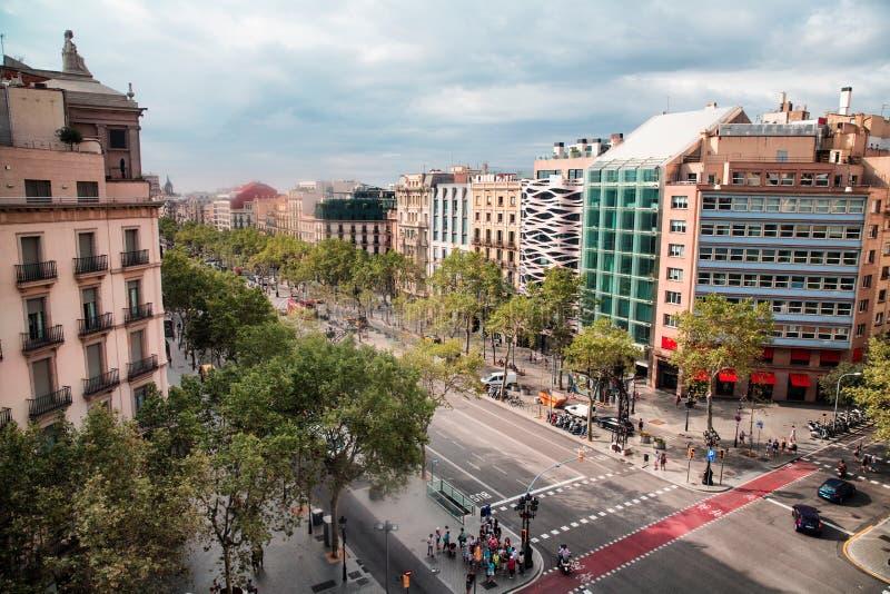 Paseo de Gracia, Barcelona arkivbild