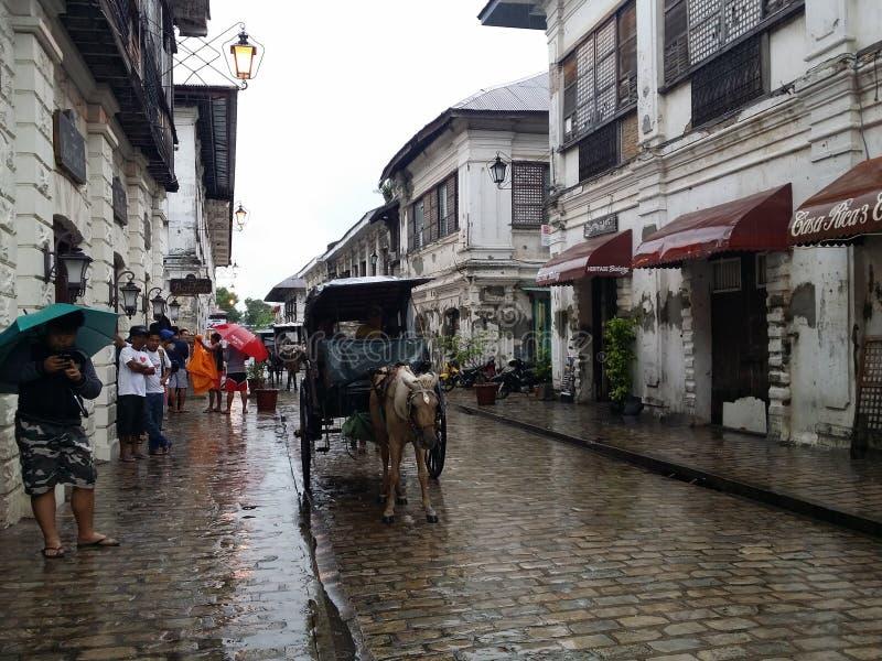 Paseo de Kalesa en la ciudad más vieja fotografía de archivo