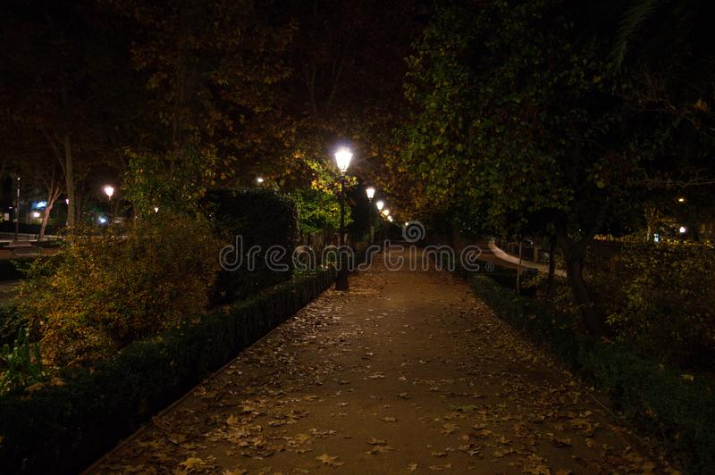 Paseo de la Bomba Park in Granada, Spain.  stock photo