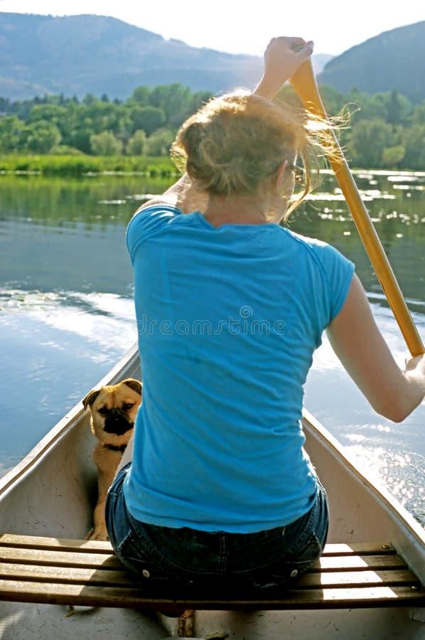 Paseo de la canoa foto de archivo libre de regalías