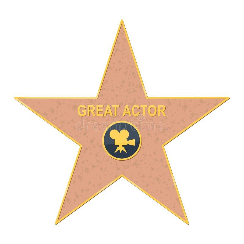 Paseo de la estrella de la fama en blanco stock de ilustración