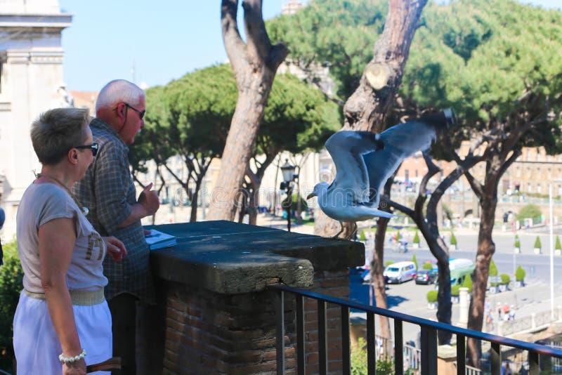 Paseo de la gente en Roma Italia imagen de archivo libre de regalías