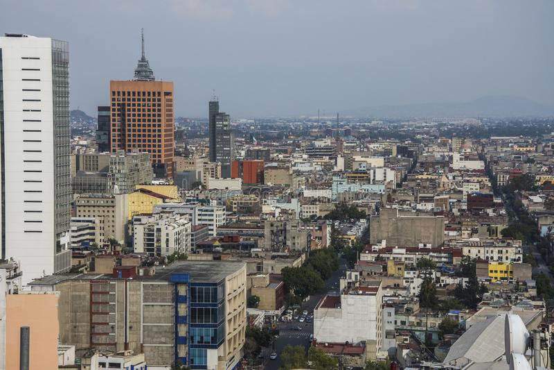 Paseo de La Reforma Square - Mexico City, Mexico stock photo