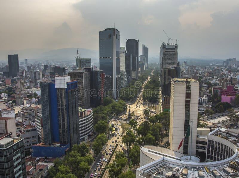 Paseo De Los Angeles Reforma Obciosujący, Meksyk -, Meksyk zdjęcia royalty free