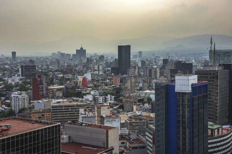Paseo De Los Angeles Reforma Obciosujący, Meksyk -, Meksyk zdjęcie stock