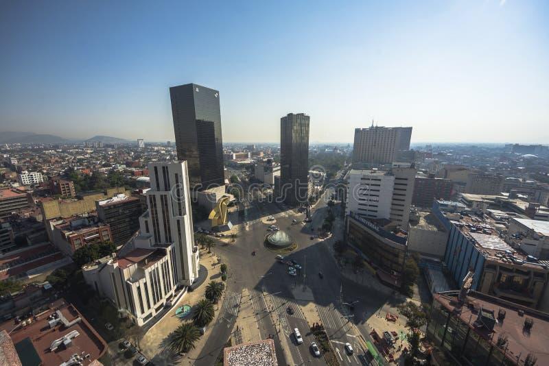 Paseo De Los Angeles Reforma Obciosujący, Meksyk -, Meksyk obrazy stock