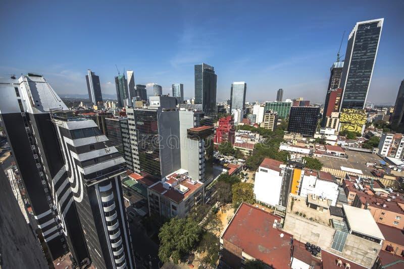 Paseo De Los Angeles Reforma Obciosujący, Meksyk -, Meksyk obraz stock