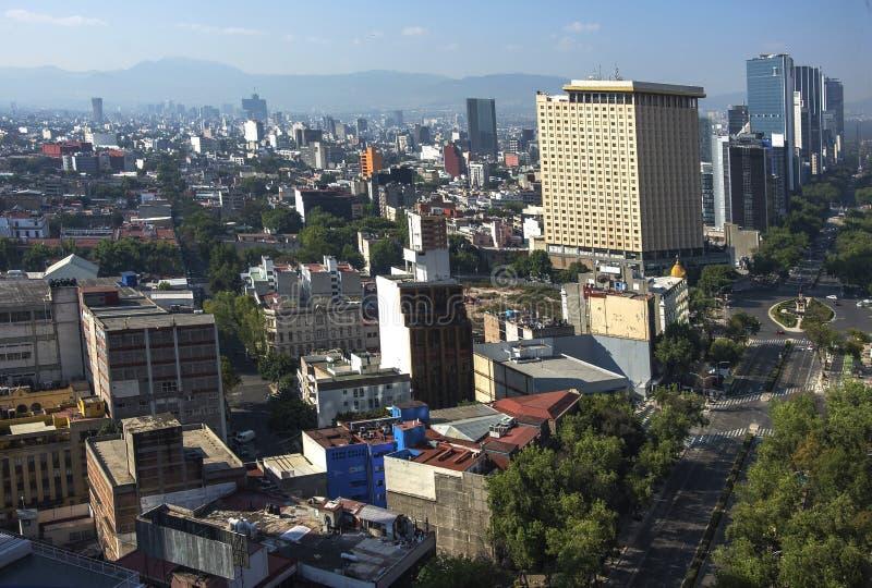 Paseo De Los Angeles Reforma Obciosujący, Meksyk -, Meksyk fotografia stock
