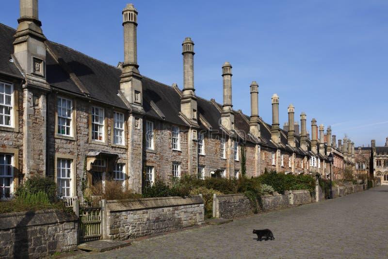Paseo de los vicarios en la ciudad de receptores de papel - Inglaterra imagenes de archivo