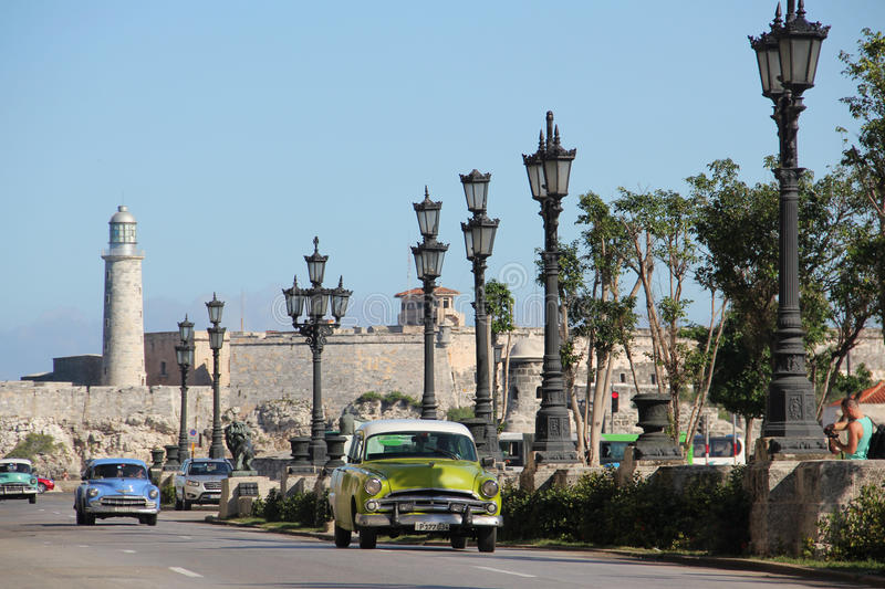 Paseo de Marti avenue in old Havana (Havana Vieja) stock photos