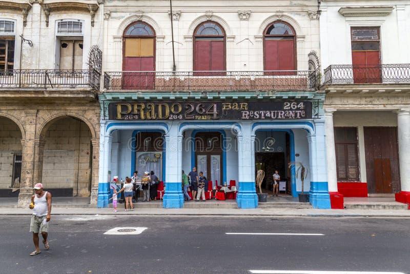 Paseo De Marti Hawański, Kuba -1 (Prada) zdjęcia royalty free
