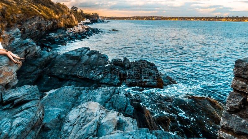 Paseo del acantilado de Newport foto de archivo libre de regalías